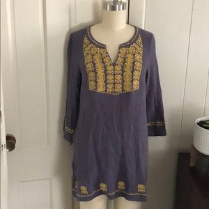 Anthropologie thml embroidered tunic